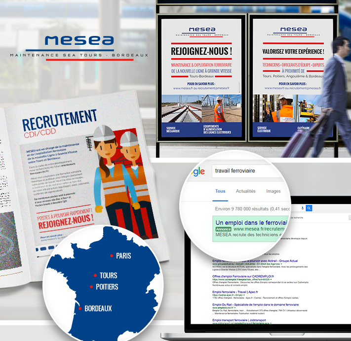 mesea campagne recrutement agence communication rc2c